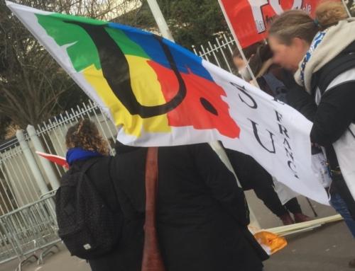 RASSEMBLEMENT DU 26 JANVIER DEVANT LA DIRECTION ACADÉMIQUE DES HAUTS-DE-SEINE